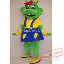 Frog Girl Mascot Costume