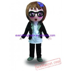 Cartoon Character Adult Cute Black Girl Mascot Costume