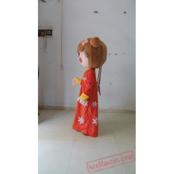 Arab Girl Mascot Costume Red Dress Girl Costumes