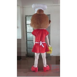 Cook Girl Mascot Costume For Adults