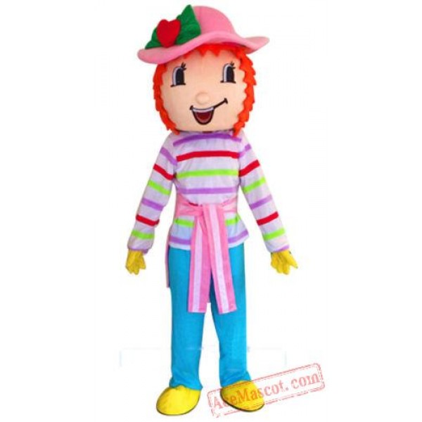 Strawberry Shortcake Girl Mascot Costume