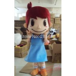 Girl Plush Cartoon Character Mascot Costume