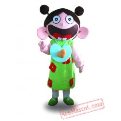 Big Mouth Girl Mascot Costume