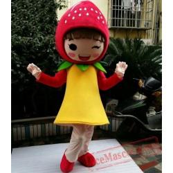 Girl Strawberry Mascot Costumes