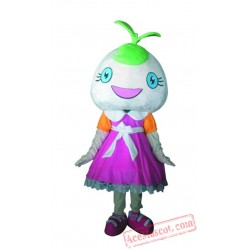 Pink Dress Girl Bean Sprout Mascot Costume
