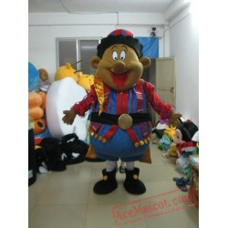Cool Black Boy Mascot Costumes Adult Character