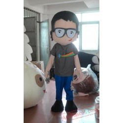 Boy Mascot Costume With Glasses