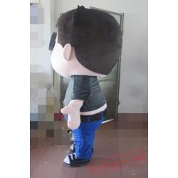 Fat Boy Mascot Costume