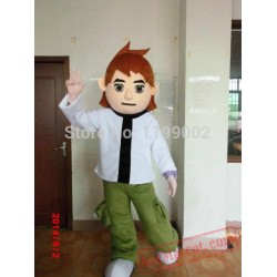 Christmas Ben Boy Mascot Costume For Adult