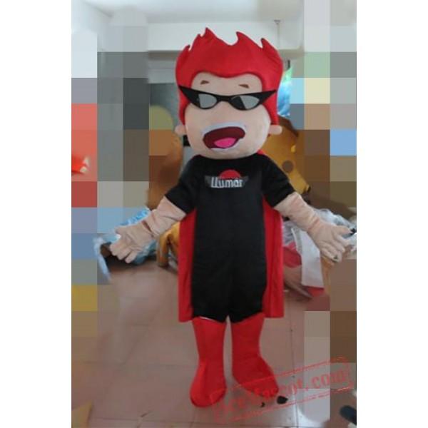 Cartoon Character Red Hair Boy Mascot Costume