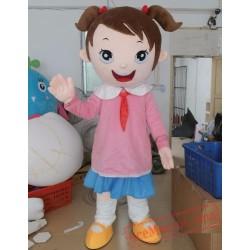 Profession School Girl Mascot Costumes
