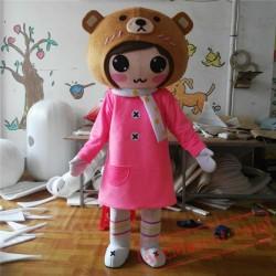 Girl Cartoon Mascot Costumes Carnival Festival