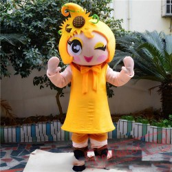 Flower Girl Mascot Costume