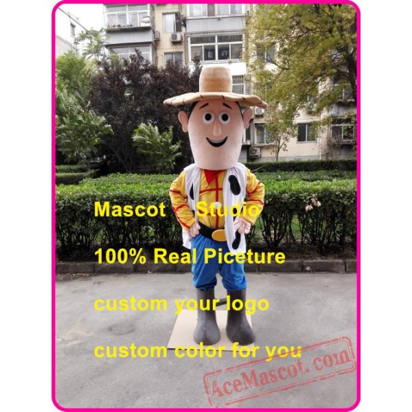 Cow Boy Mascot Costume