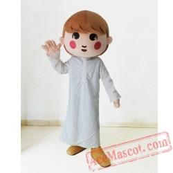 White Dress Boy Mascot Costumes