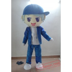 Blue Hat Boy Mascot Costumes