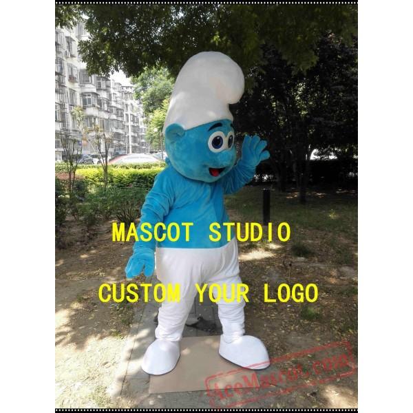 Blue Elf Boy Mascot Costume
