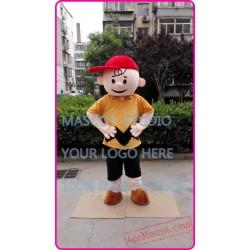 Brown Boy Mascot Costume