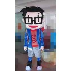 Character Adult Glasses Boy Mascot Costume