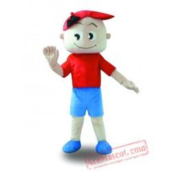 Wheel Hat Boy Mascot Costume