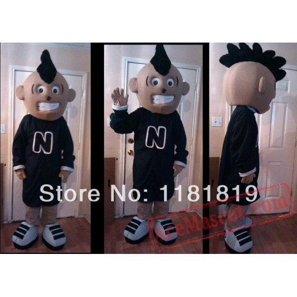 Bad Guy Boy Mascot Costume