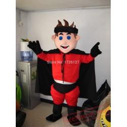 Boy Surperman Mascot Hero Costume