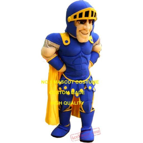 Blue Knight Mascot Costume