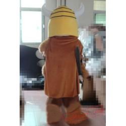 Valorous Viking Warrior Knight Mascot Costume