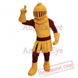 Dark Golden Knight Warrior Mascot Costume Spartan