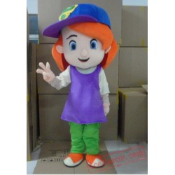 Cool Debby Maiden Mascot Costumes Girl Maid Cartoon
