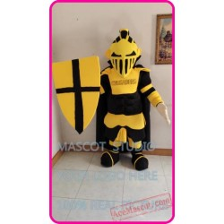 Knight Lancer Mascot Costume Cartoon Character