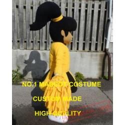 Yellow Dress Cutie Cheer Leader Mascot Costume