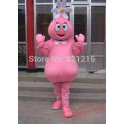 Adult Lovely Pink Flower Girl Mascot Costumes