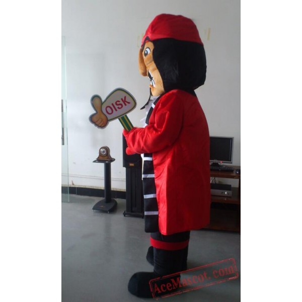 Captain Pirate Mascot Costume
