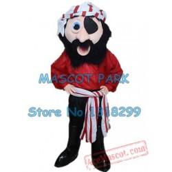 Red Pirate Mascot Costume