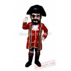 Cosplay Captain Jack Pirate Mascot Costume