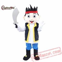 Jake And The Neverland Pirates Cartoon Mascot Costume