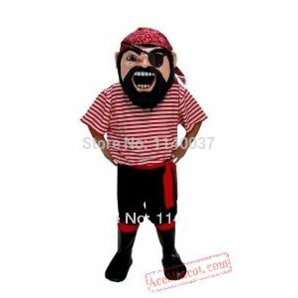 Col. Keel Haul Pirate Mascot Costume
