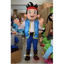 Jake Neverland Narrowly Pirate Mascot Costume