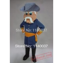 Rebel Civil War Mascot Costume