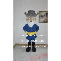 General Civil War Mascot Rebel Costume