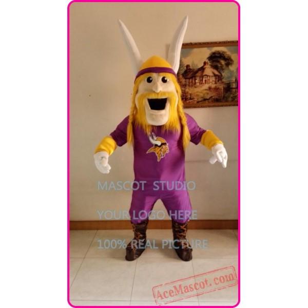 Purple Viking Mascot Costume