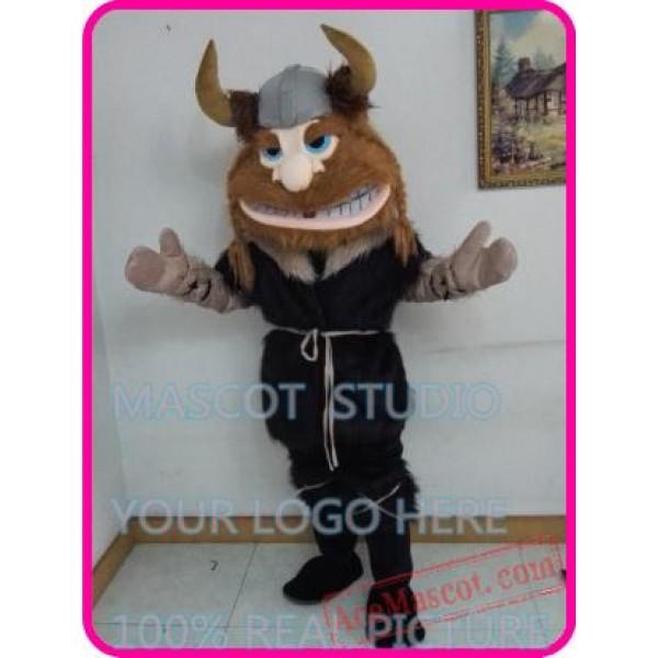 Viking Man Mascot Costume Cartoon Character