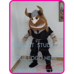Viking Man Mascot Costume Cartoon Character