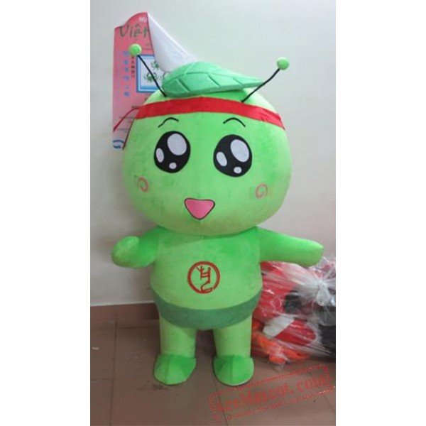 Adult Cartoon Character Cute Green Mascot Costume