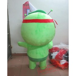 Adult Cartoon Character Green Mascot Costume