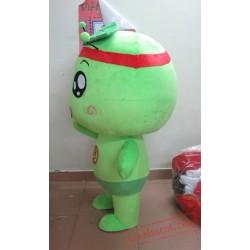 Adult Cartoon Character Cute Green Mascot Costume