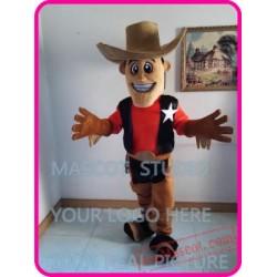 Black Cowboy Mascot Costume