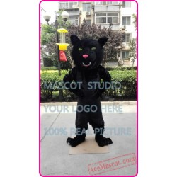 Black Panther Mascot Leopard Cougar Costume