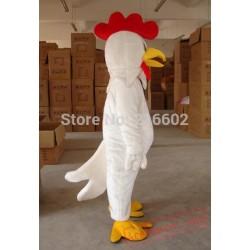 Adult White Chicken Mascot Costume